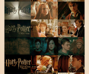 ginny, harry potter, and hp image