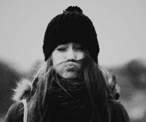 girl, cute, and black and white image