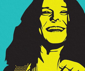 art, painting, and janis image