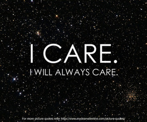 care, love, and quote image