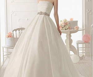 2012, wedding gowns, and bridesmaid dress image