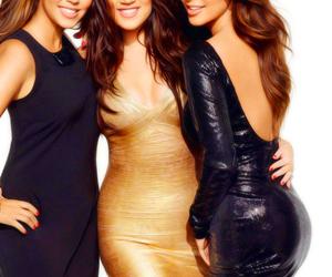 kim kardashian, sisters, and kourtney kardashian image