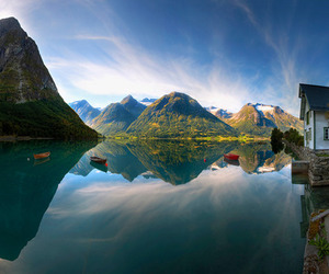 nature, mountains, and norway image