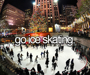 winter, ice skating, and snow image