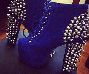 blue, shoes, and spikes image