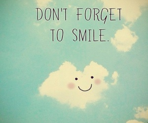 smile, clouds, and blue image
