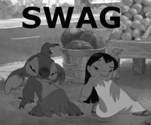 black and white, disney, and hipster image