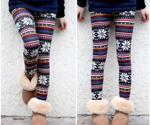 leggings, winter, and uggs image