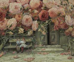 rose, love, and child image