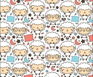 pattern, sheep, and background image