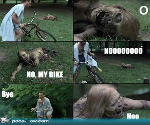 the walking dead, funny, and zombie image