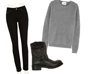 acne, black, and black jeans image