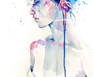 art, watercolor, and painting image
