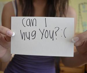 girl, hug, and love image