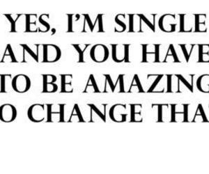 single, amazing, and quote image