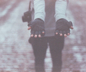 hands, gloves, and photography image