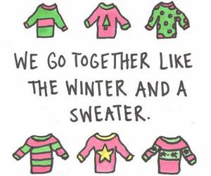 sweater, winter, and cute image