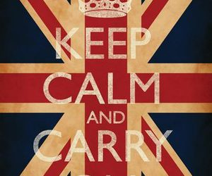 keep calm and carry on, uk, and union jack image