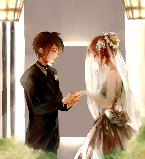 anime wedding  Tumblr shared by @pollyleen on We Heart It