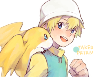 takeru, patamon, and digimon adventure 02 image