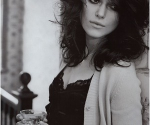 keira knightley, black and white, and actress image