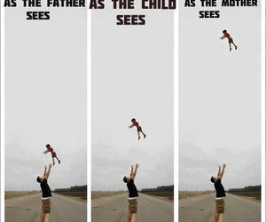 funny, child, and father image