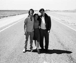 black and white, kristen stewart, and on the road image