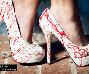 blood, shoes, and heels image