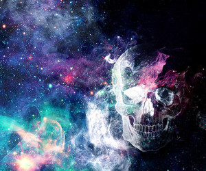 nebula, skull, and astral image