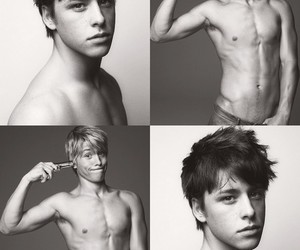 black and white, maxxie, and mitch hewer image