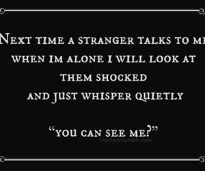 funny, stranger, and quotes image