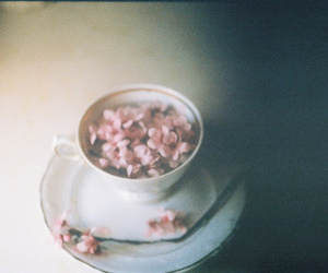 flowers, tea party, and teacup image