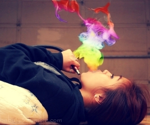 smoke and girl image