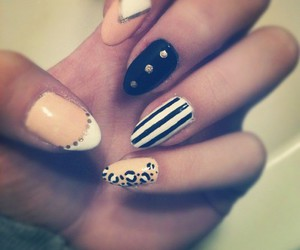 nails, pretty, and black image