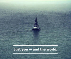 quote, world, and sea image
