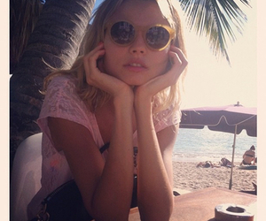 girl, model, and beach image