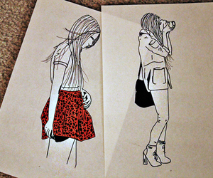 drawing, dress, and cute image