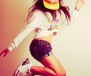 girl, swag, and jump image
