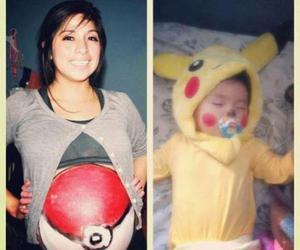 baby, pokemon, and pikachu image
