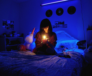 bed, disco, and girl image