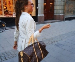 girl, bag, and brunette image