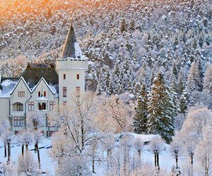beautiful, castle, and winter image
