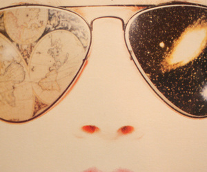 cosmos, glasses, and stars image