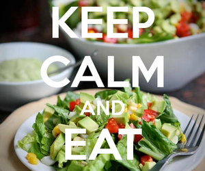 healthy, food, and keep calm image