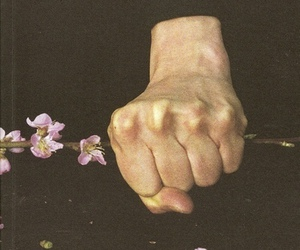 hand and flowers image