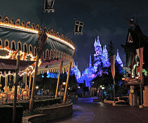 castle, disney, and night image