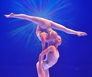 circus, contortionist, and couple image