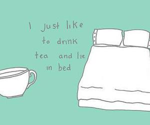 tea, bed, and quote image
