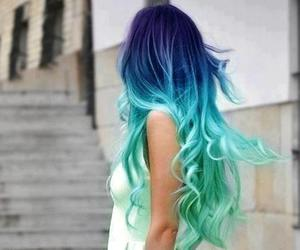 beautiful, blue hair, and color hair image