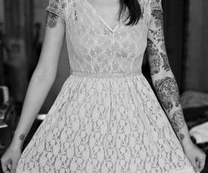 tattoo, dress, and girl image